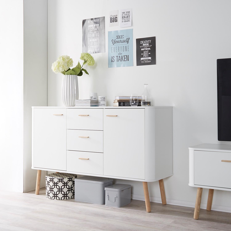 m rteens sideboard pilara eiche teilmassiv eiche wei kommode highboard 39 ebay. Black Bedroom Furniture Sets. Home Design Ideas