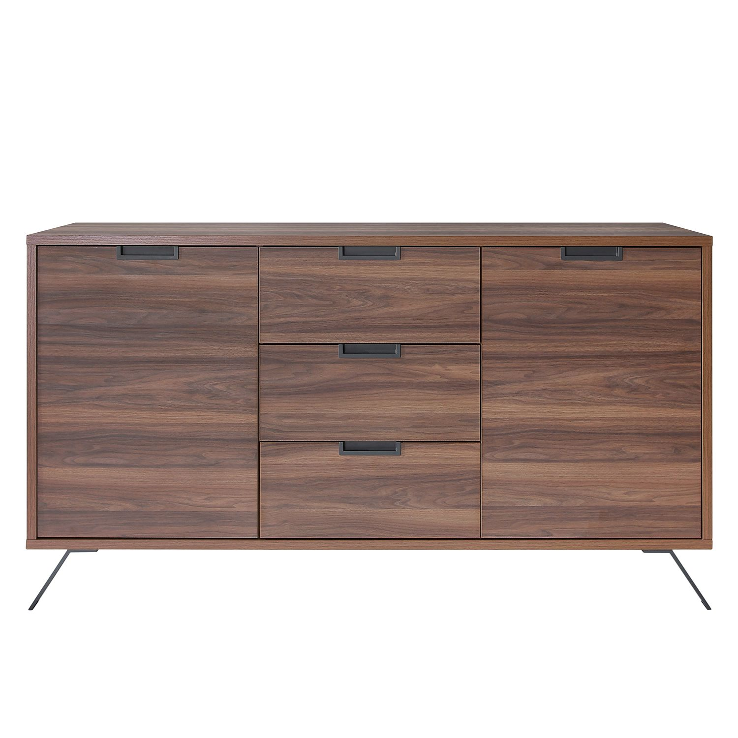 sideboard nussbaum optik vintage teak sideboard cabinet s. Black Bedroom Furniture Sets. Home Design Ideas