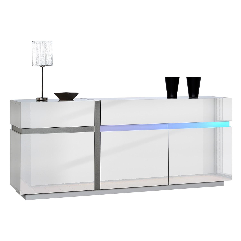 Eitelkeit Sideboard Weiß Hochglanz 200 Cm Beste Wahl Eek A+, Cross Ii ( Inkl. Beleuchtung)