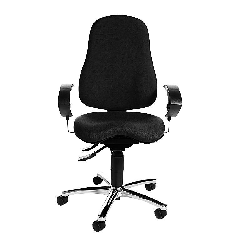 Home 24 - Chaise de bureau pivotante sitness 10 - assise orthopédique - noir, topstar