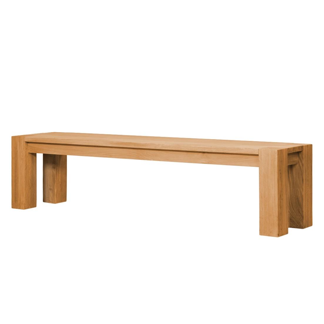 Sitzbank David - Eiche massiv - Eiche - 205 cm