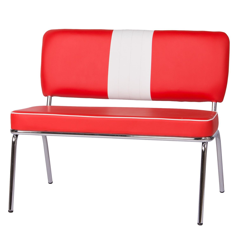 Home 24 - Banc elvis i - rouge / blanc, mooved