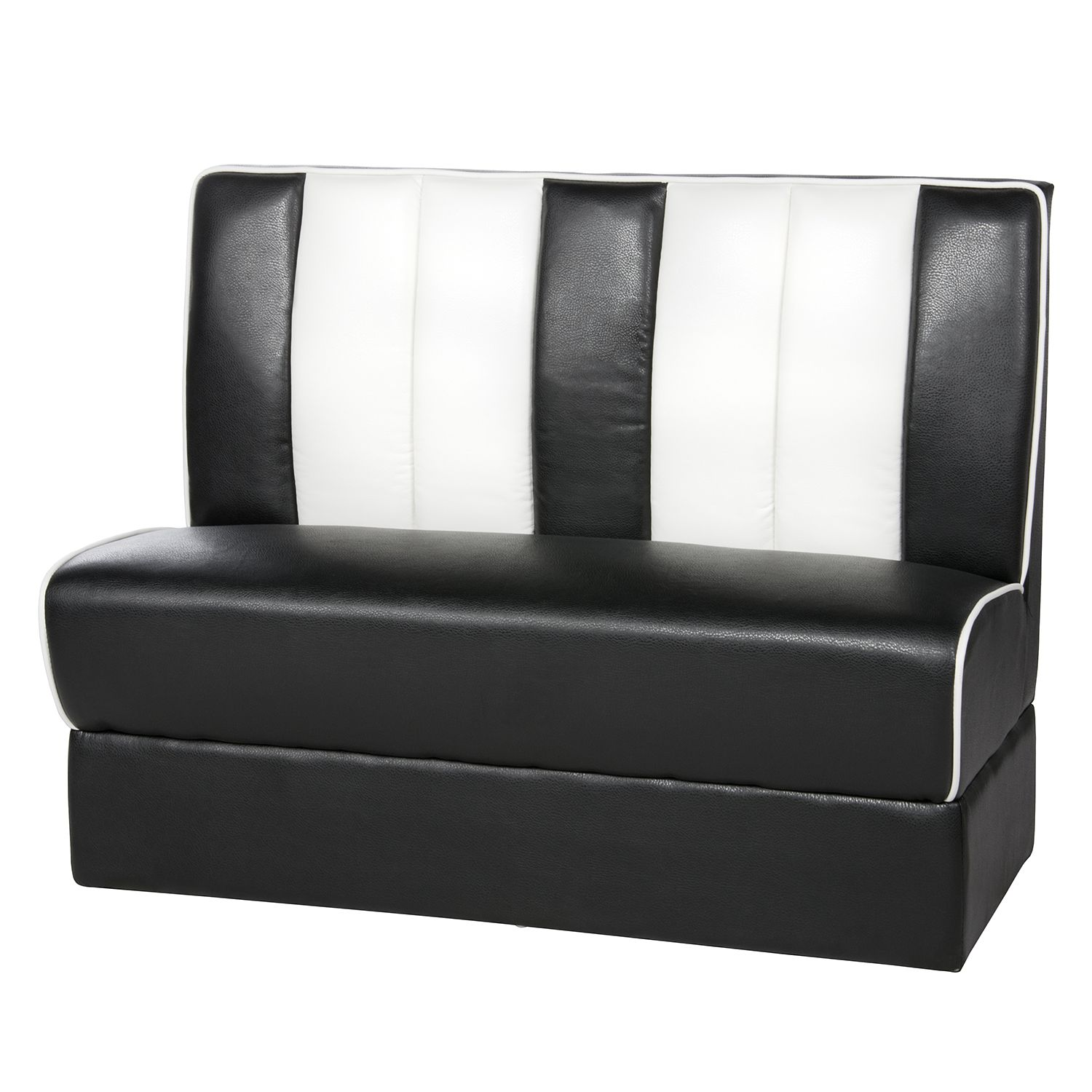 banc elvis ii noir blanc mooved par mooved chez home24 fr. Black Bedroom Furniture Sets. Home Design Ideas