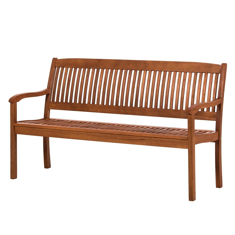 Sitzbank Maracaibo II (3-Sitzer) - Eukalyptus massiv - Geölt - Ergonomisch geformt, Merxx