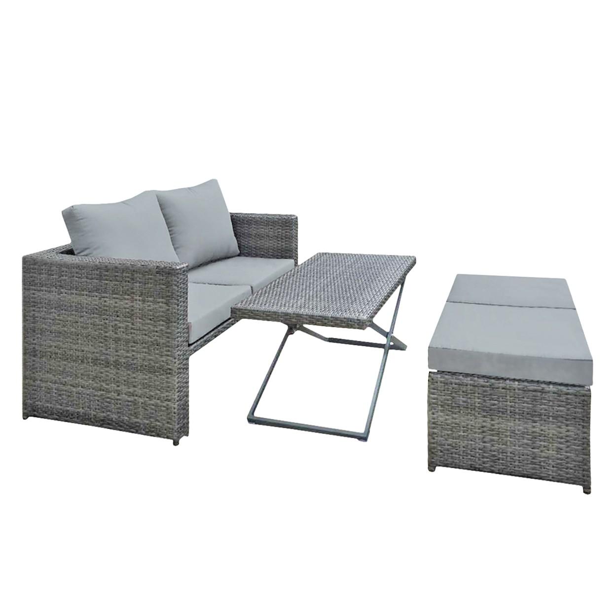 polyrattan sitzgruppe grau polyrattan sofa sitzgruppe lounge grau kaufen bei mucola polyrattan. Black Bedroom Furniture Sets. Home Design Ideas