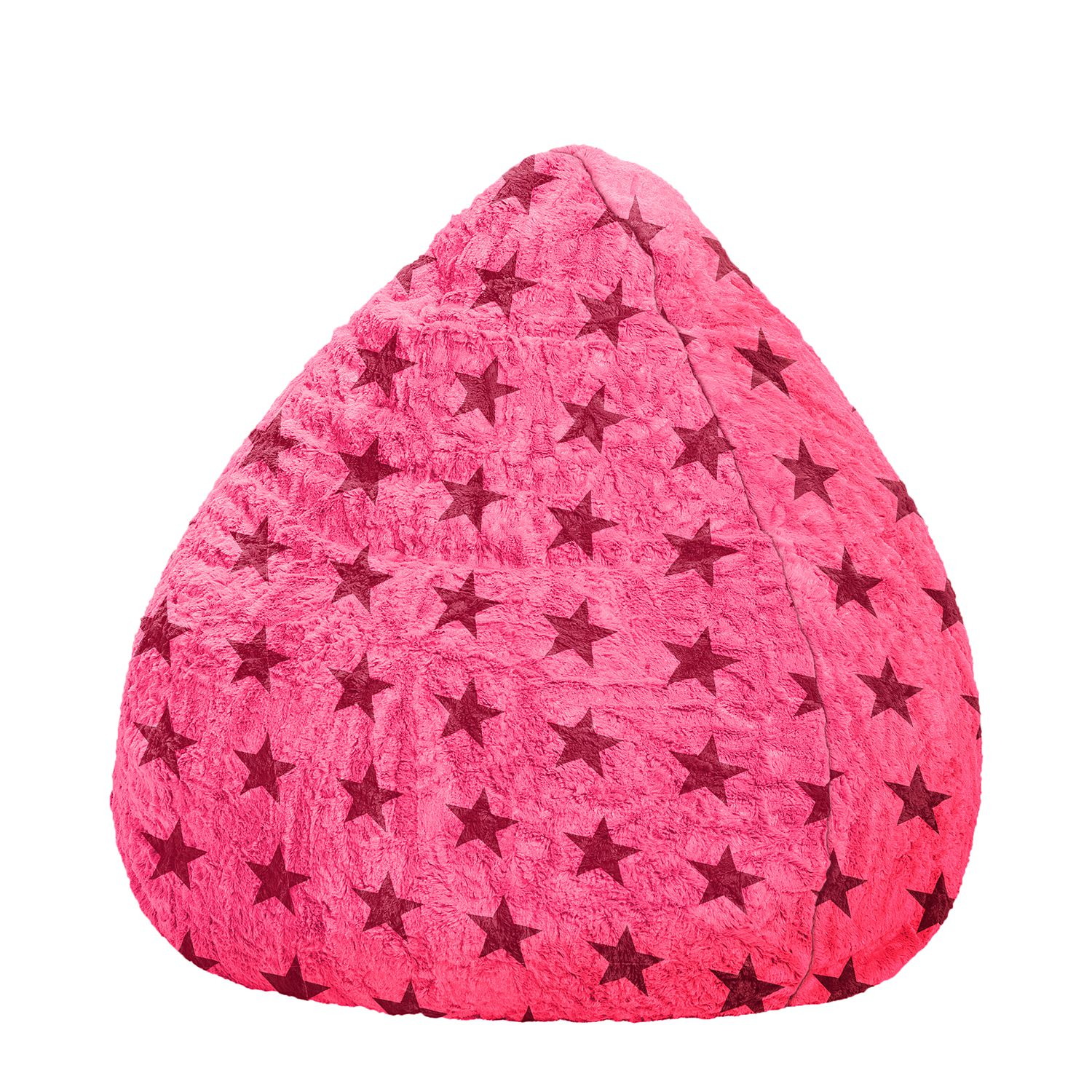 Sitzsack Fluffy Stars - Webstoff - 110 - Pastellrot, SITTING POINT