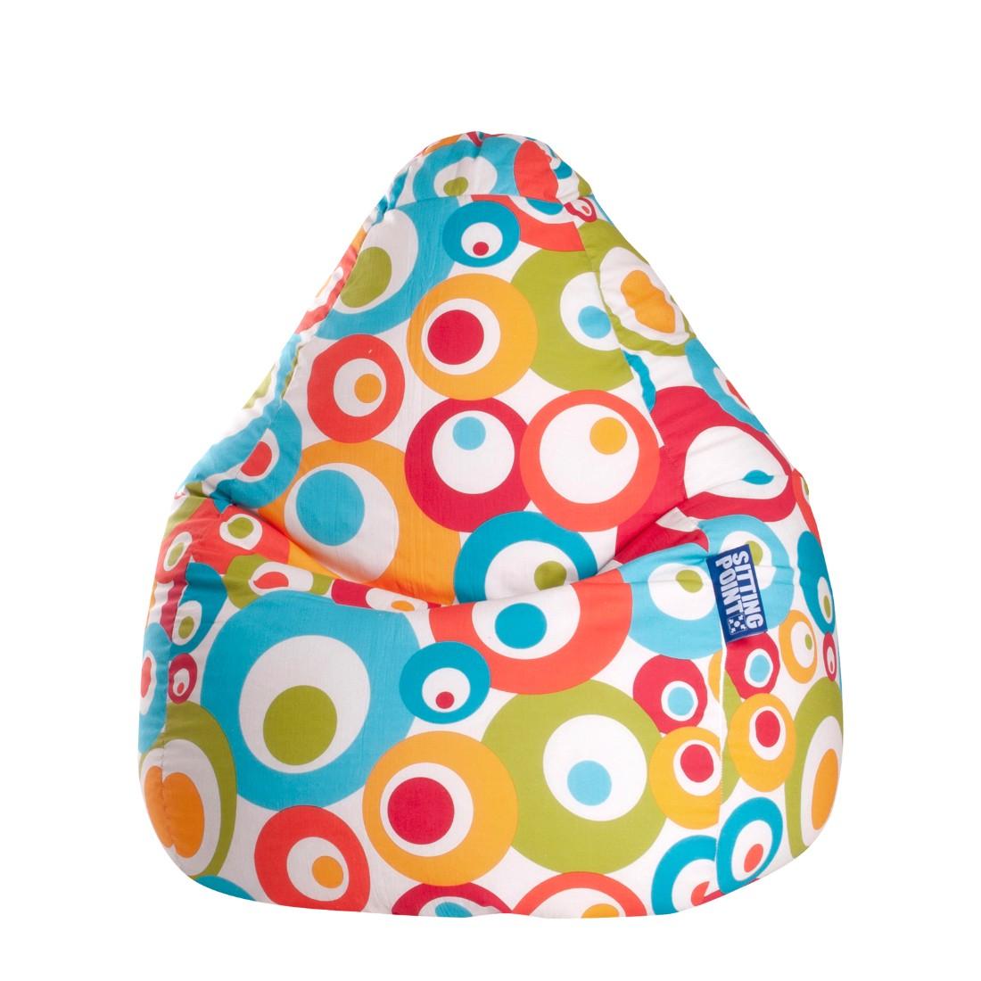 Home 24 - Pouf poire malibu xl - coton - multicolore, sitting point