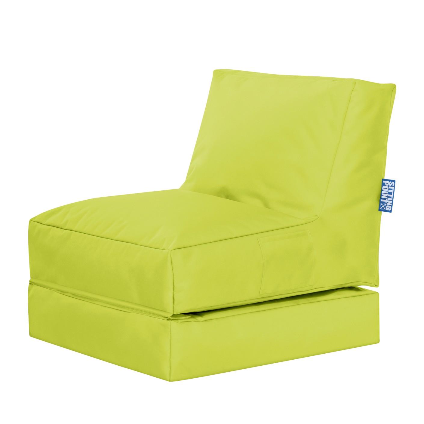 Sitzsack Twist Scuba   Flachgewebe   Limengrün, SITTING POINT