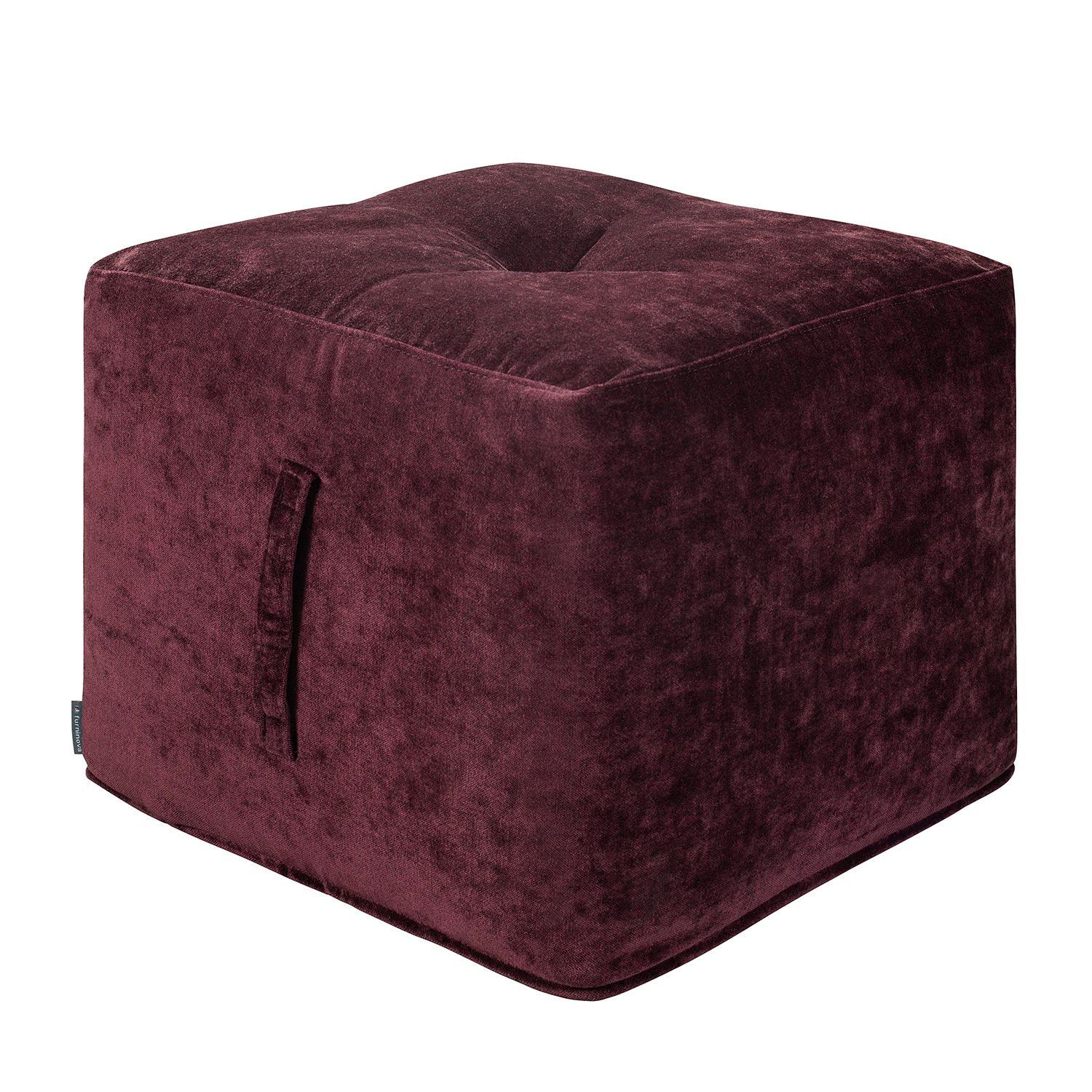 Home 24 - Pouf piton - velours - prune, says who
