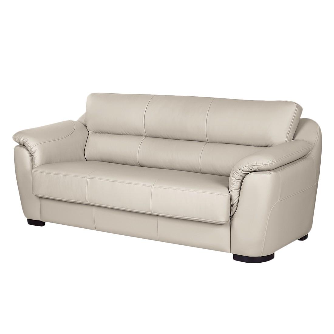 sofa alzira 3 sitzer echtleder taupe nuovoform g nstig. Black Bedroom Furniture Sets. Home Design Ideas
