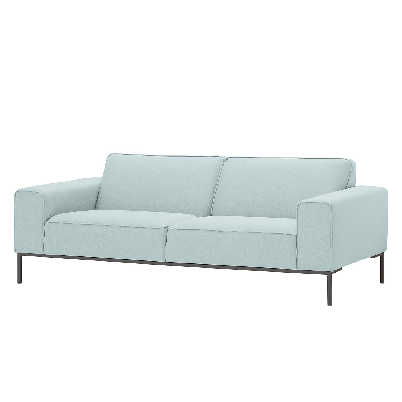 Sofa Ampio (3-Sitzer) - Webstoff - Grau - Stoff Floreana Mintgrün