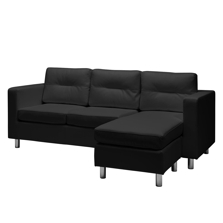 Sofa Wyke II (3 Sitzer Mit Hocker) Scwarz COUCH SOFA HOCKER ...