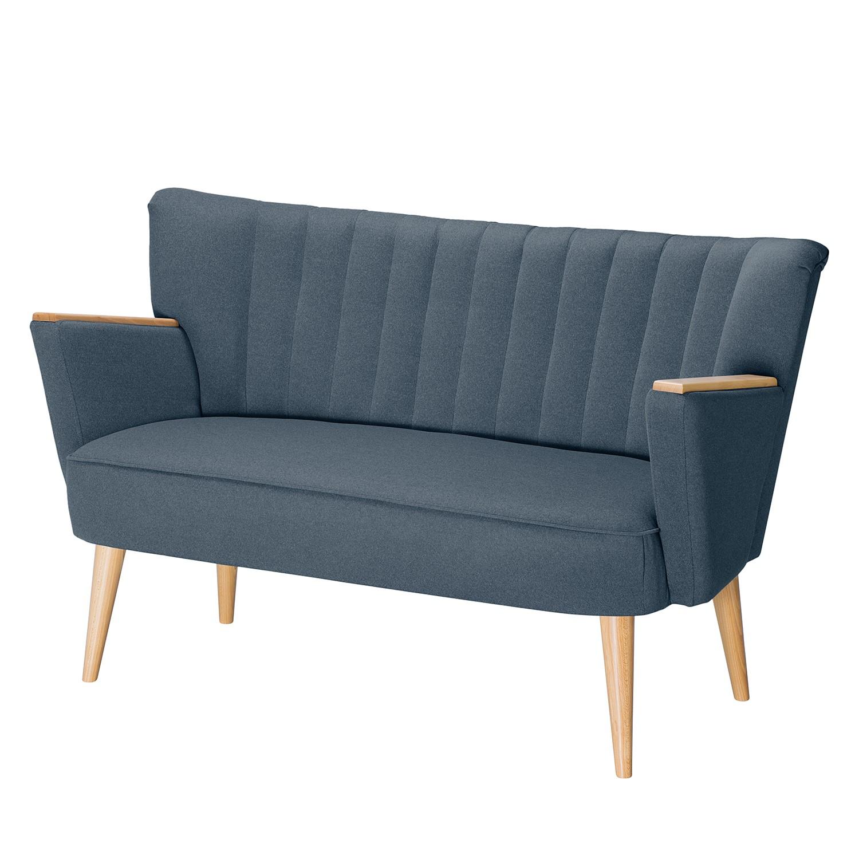 Canapé Bauro (2 places) - Tissu - Bleu jean, Morteens