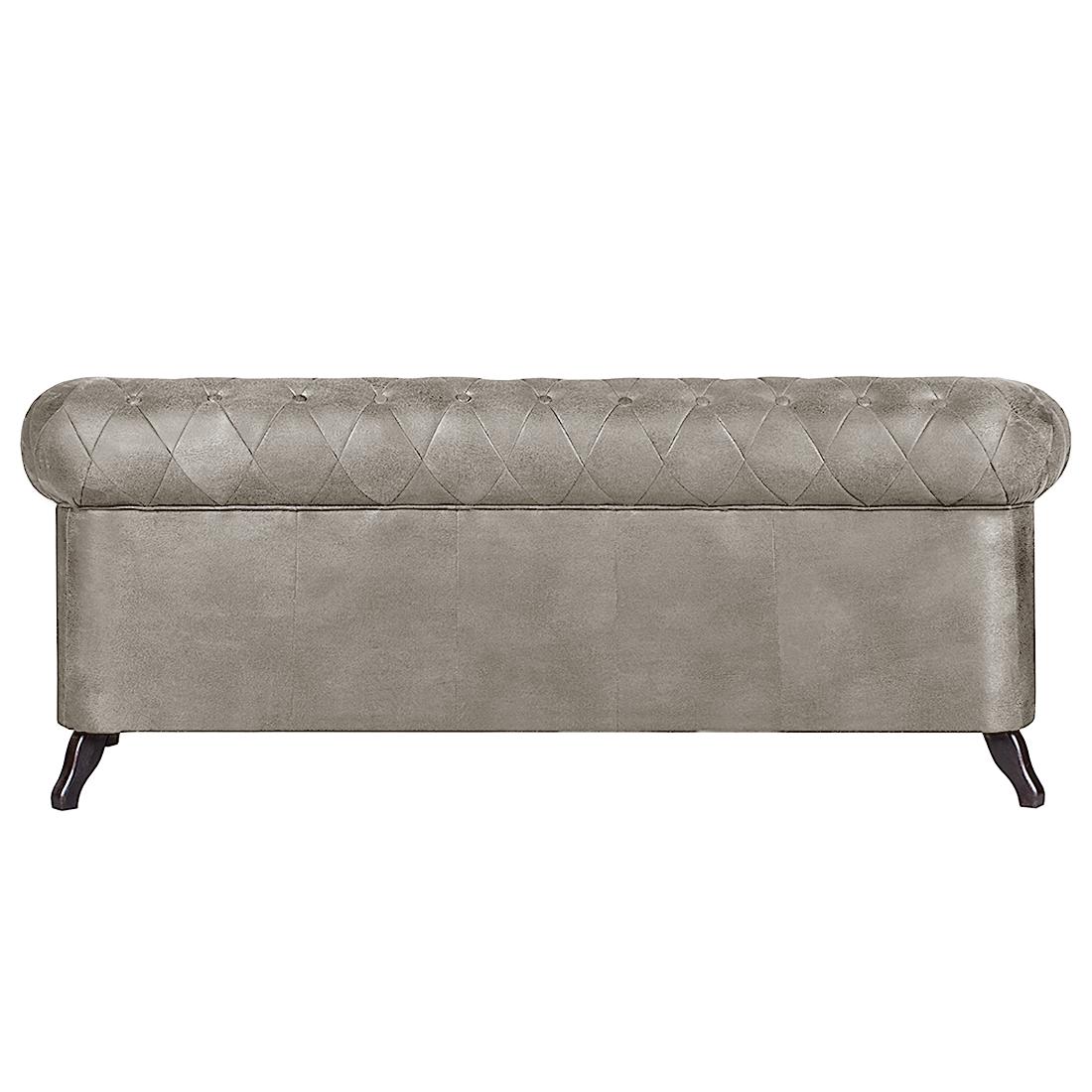 Sofa benavente 3 sitzer antiklederoptik grausilber couch ebay - Sofa antiklederoptik ...