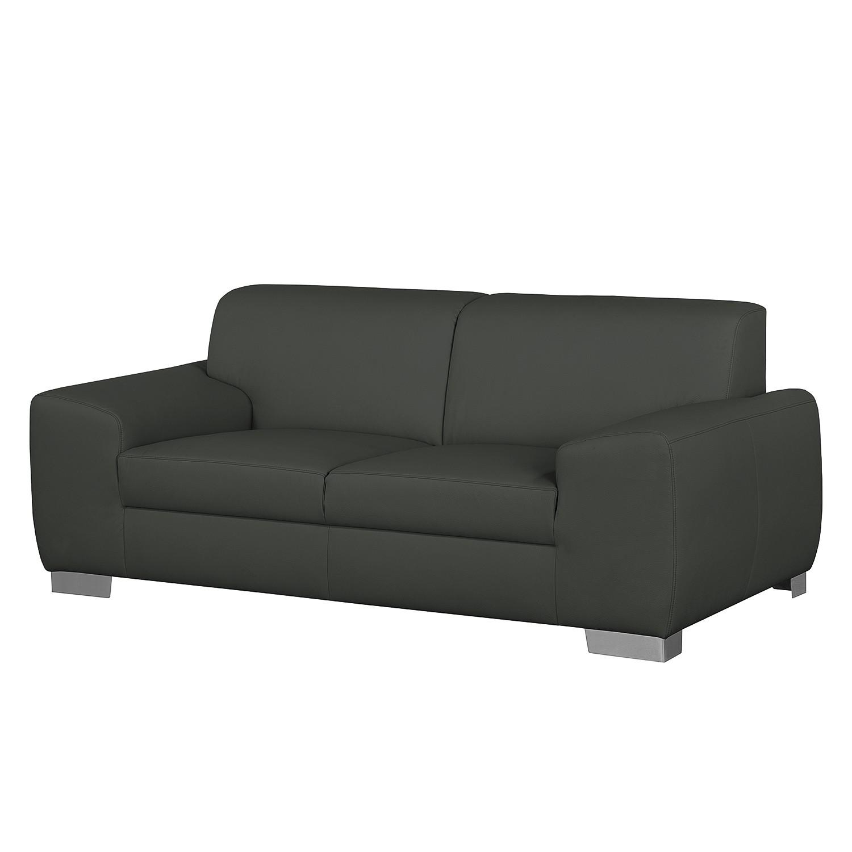 Sofa bollon 2 sitzer kunstleder dunkelgrau fredriks for Couch bestellen