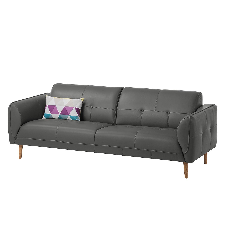 Sofa Cala (3-Sitzer) Echtleder - Eiche Natur Neka Grau Sale Angebote Kathlow