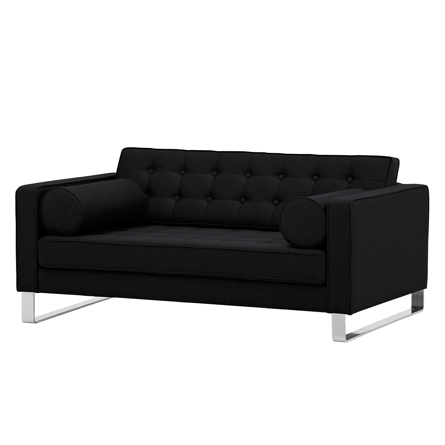 sofa chelsea 2 sitzer webstoff kufen stoff selva anthrazit online bestellen. Black Bedroom Furniture Sets. Home Design Ideas