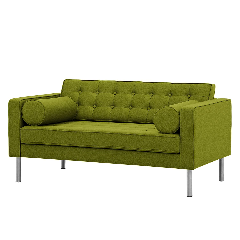 sofa chelsea 2 sitzer webstoff runder fu stoff ramira limette bestellen. Black Bedroom Furniture Sets. Home Design Ideas