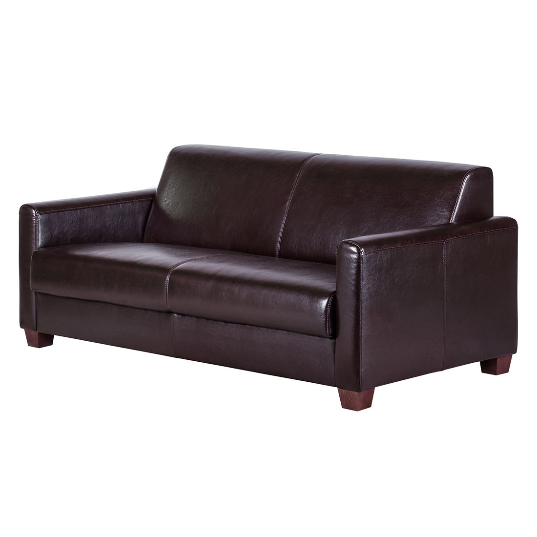 sofa fragola 3 sitzer echtleder dunkelbraun ars manufacti g nstig kaufen. Black Bedroom Furniture Sets. Home Design Ideas
