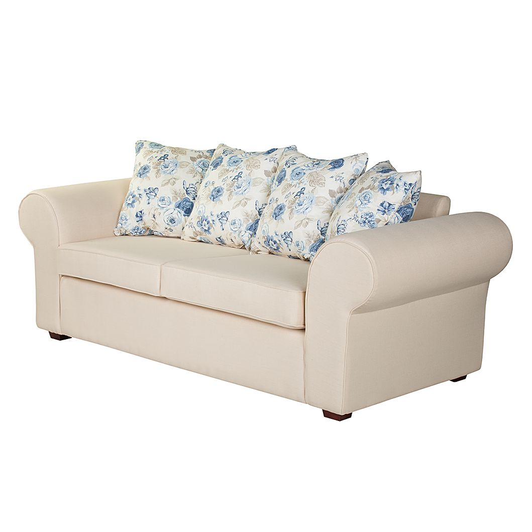 sofa colmar 3 sitzer beige blau maison belfort. Black Bedroom Furniture Sets. Home Design Ideas
