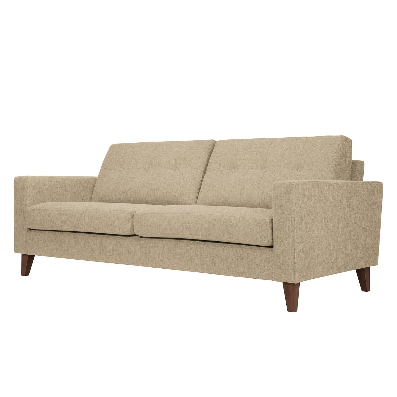 Sofa Cooper (3-Sitzer) Webstoff - Stoff Akenia Beige