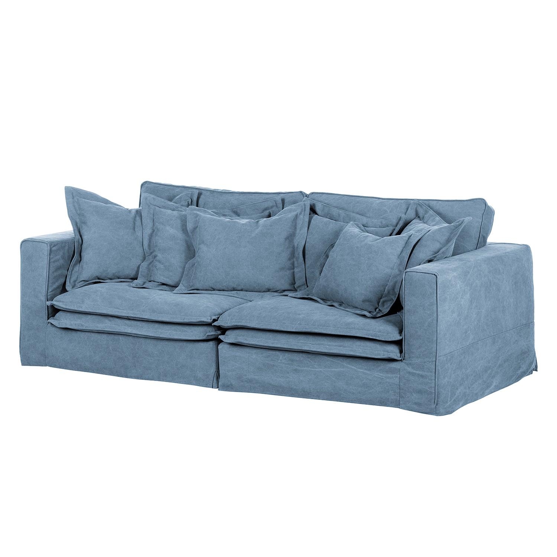 Sofa Coral Beach 3 Sitzer Webstoff Blau Capeside Westcoast