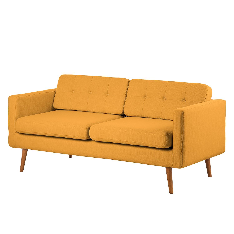 Canapé Croom (3 places) - Textile - Jaune moutarde, Morteens