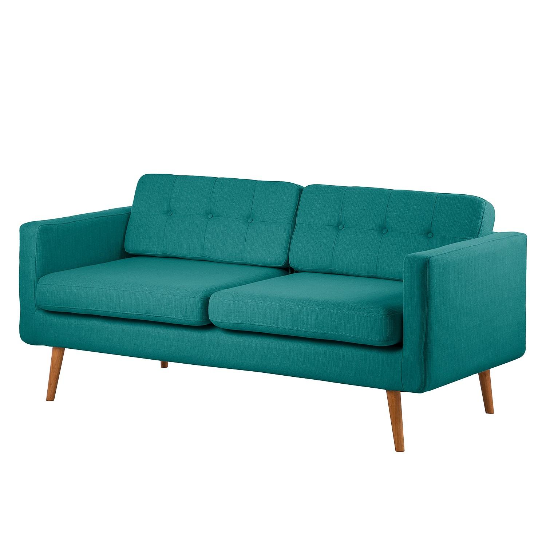 Canapé Croom (3 places) - Textile - Turquoise, Morteens