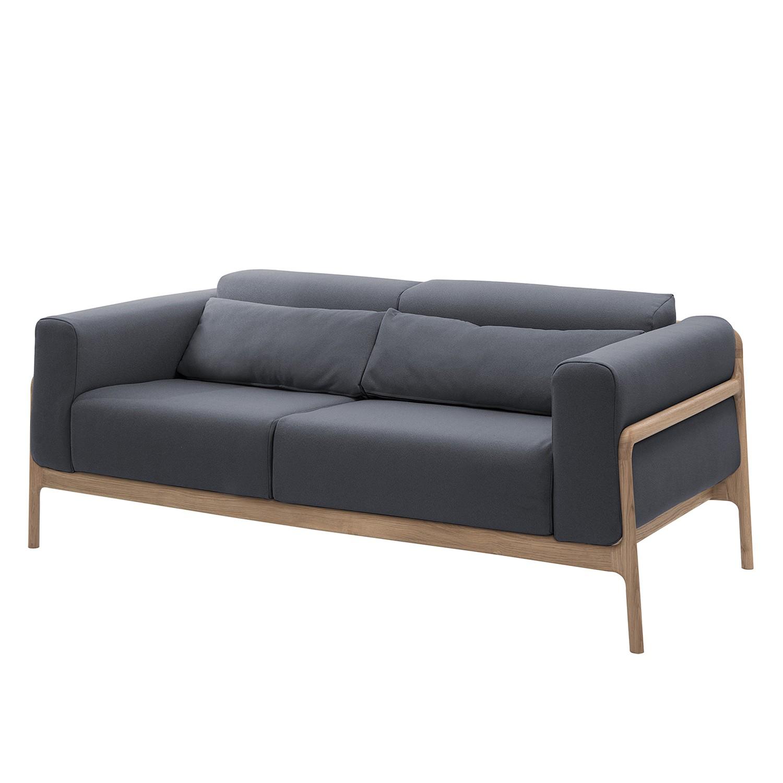 Sofa Fawn (2-Sitzer) - Webstoff - Eiche - Stoff Ever Anthrazit