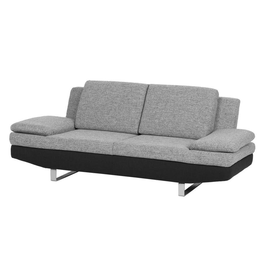 Canapé Felipa (2 places) - Tissu noir / structuré gris, loftscape