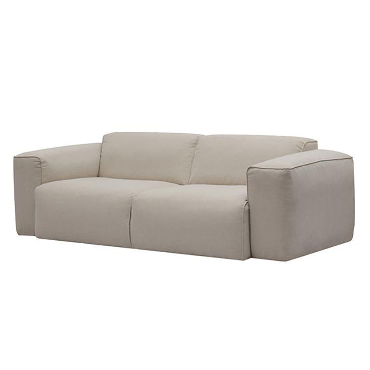 Sofa Hudson (2-Sitzer) - Webstoff - Stoff Saia Beige