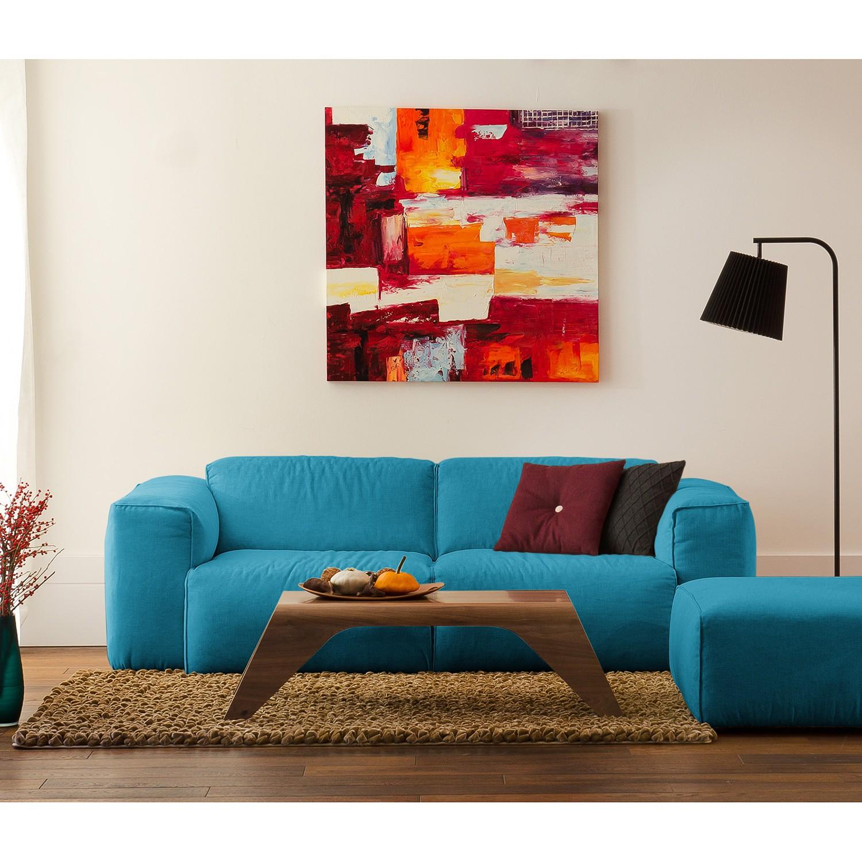 ecksofa leder sofa hudson iii longchair wei leder smash. Black Bedroom Furniture Sets. Home Design Ideas