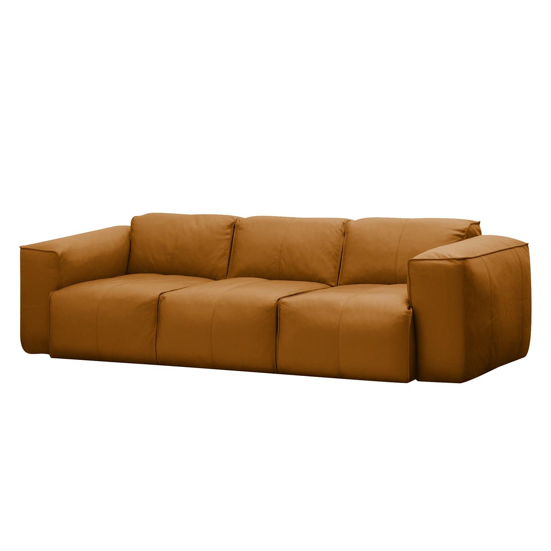 Sofa Hudson I (3-Sitzer) Echtleder - Echtleder Neka Cognac