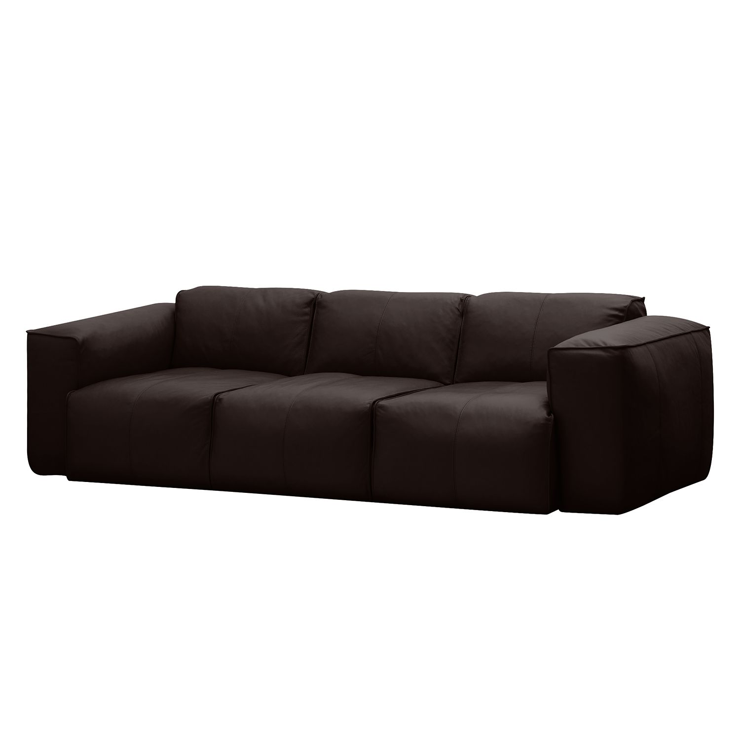 sofa hudson i 3 sitzer echtleder echtleder neka dunkelbraun g nstig. Black Bedroom Furniture Sets. Home Design Ideas