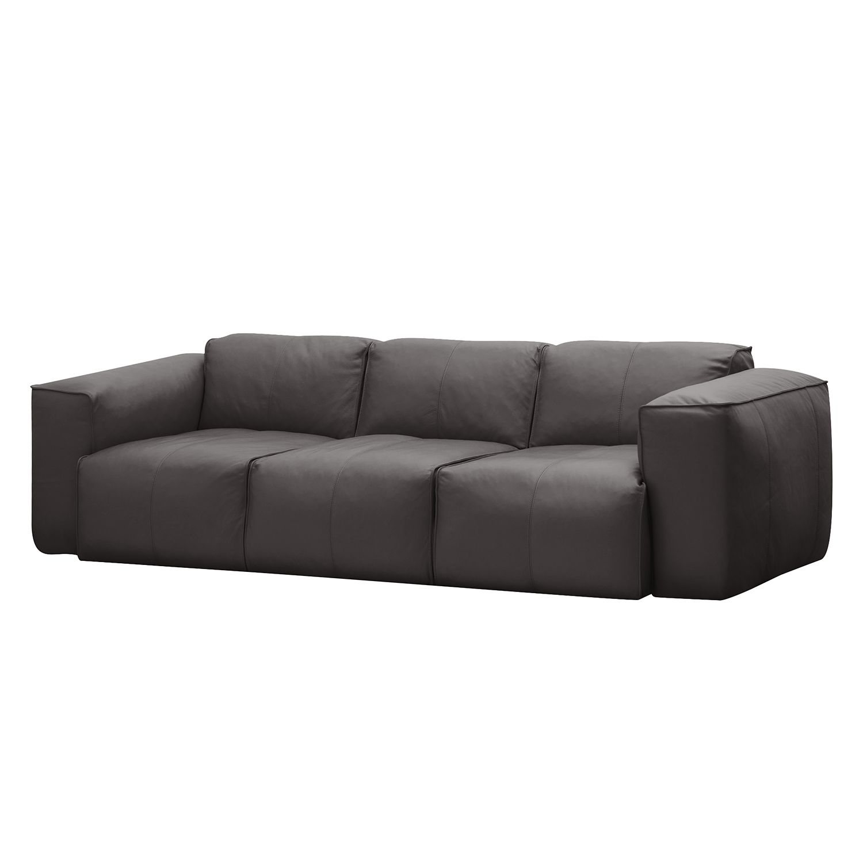 Sofa Hudson I (3-Sitzer) - Echtleder - Echtleder Neka Grau