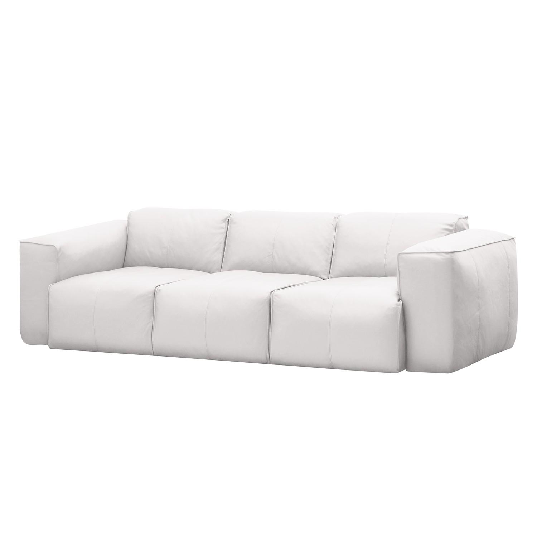 Sofa Hudson I (3-Sitzer) - Echtleder - Echtleder Neka Weiß