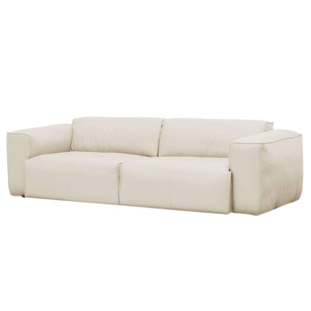 sofa hudson ii 3 sitzer echtleder echtleder neka creme g nstig. Black Bedroom Furniture Sets. Home Design Ideas