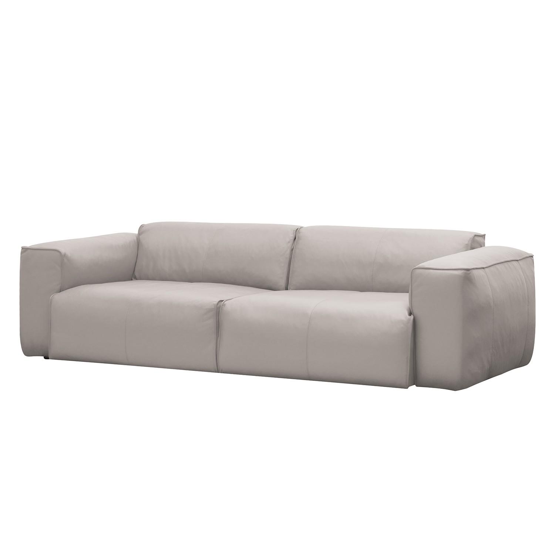 sofa hudson ii 3 sitzer echtleder echtleder neka hellgrau g nstig kaufen. Black Bedroom Furniture Sets. Home Design Ideas