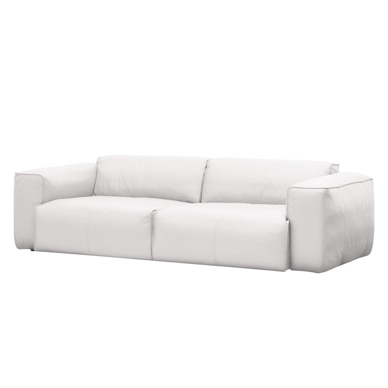 Sofa Hudson II (3-Sitzer) - Echtleder - Echtleder Neka Weiß