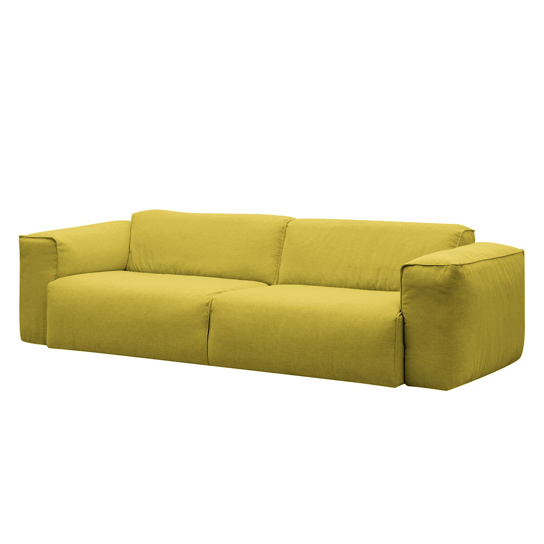 sofa hudson ii 3 sitzer webstoff stoff milan gelb jetzt kaufen. Black Bedroom Furniture Sets. Home Design Ideas