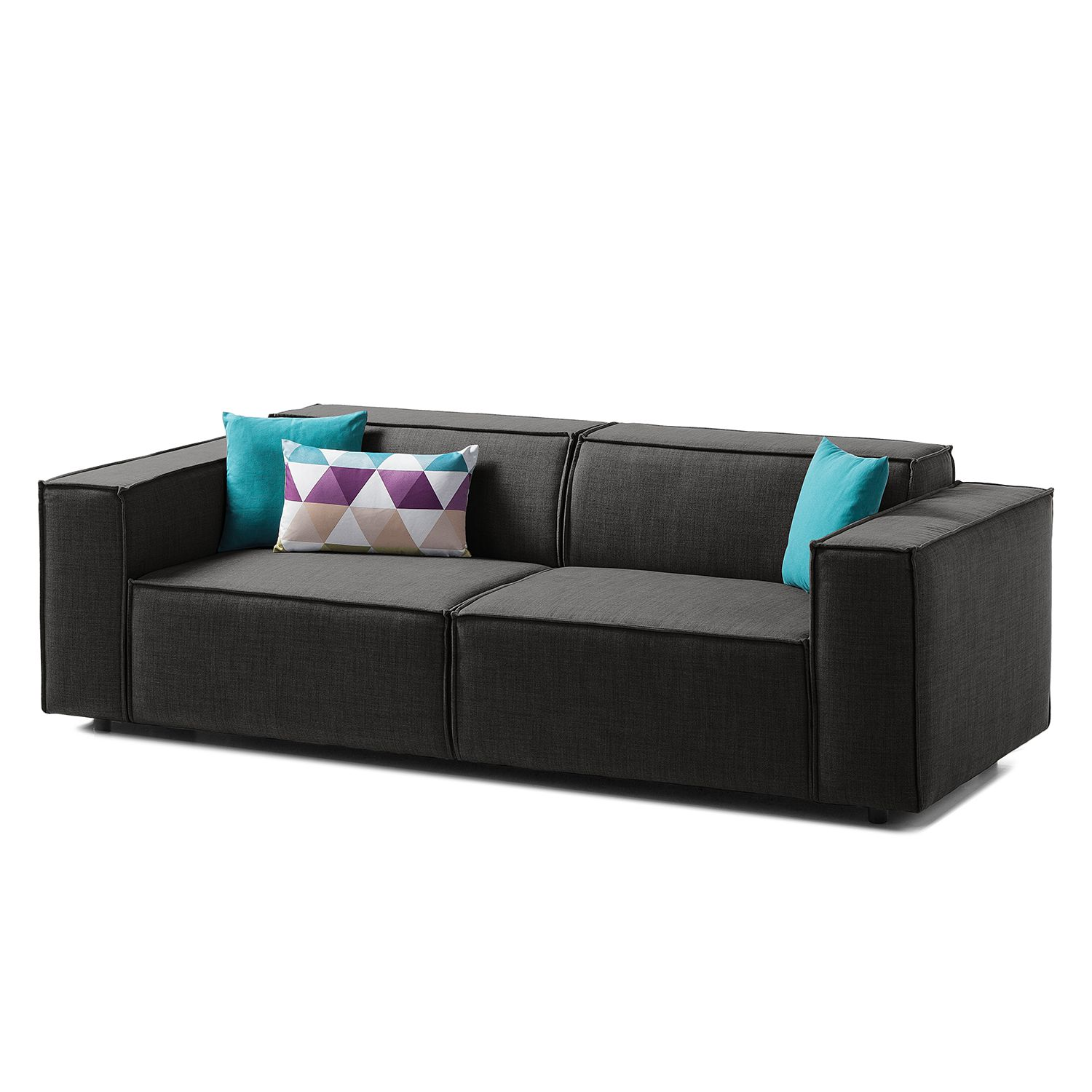 sofa kinx 2 5 sitzer webstoff stoff milan anthrazit kinx bestellen. Black Bedroom Furniture Sets. Home Design Ideas