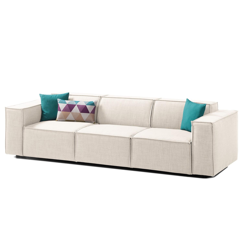 Sofa Kinx (3-Sitzer) Webstoff - Stoff Milan Altweiß