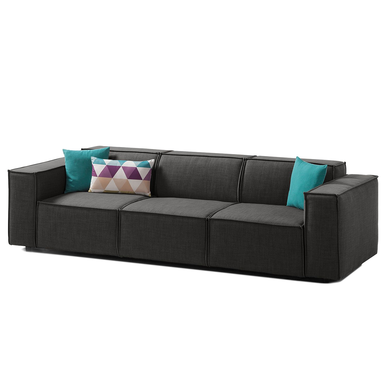 Sofa Kinx (3-Sitzer) Webstoff - Stoff Milan Anthrazit