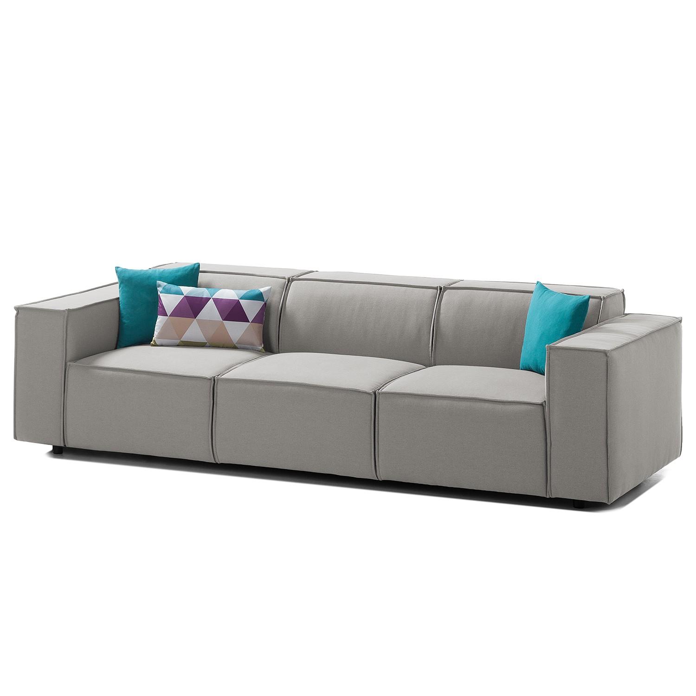 Sofa Kinx (3-Sitzer) Webstoff - Stoff Osta Graubraun
