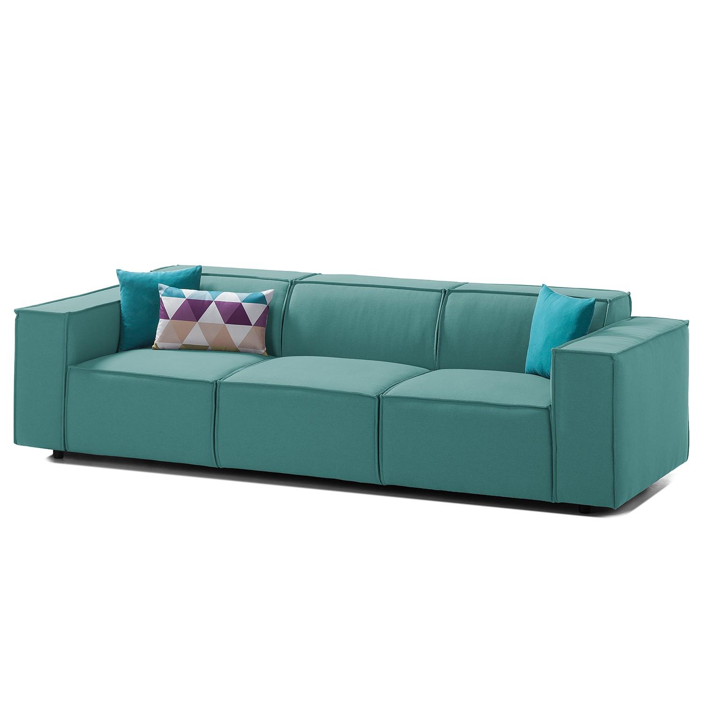 Sofa Kinx (3-Sitzer) Webstoff - Stoff Osta Petrol
