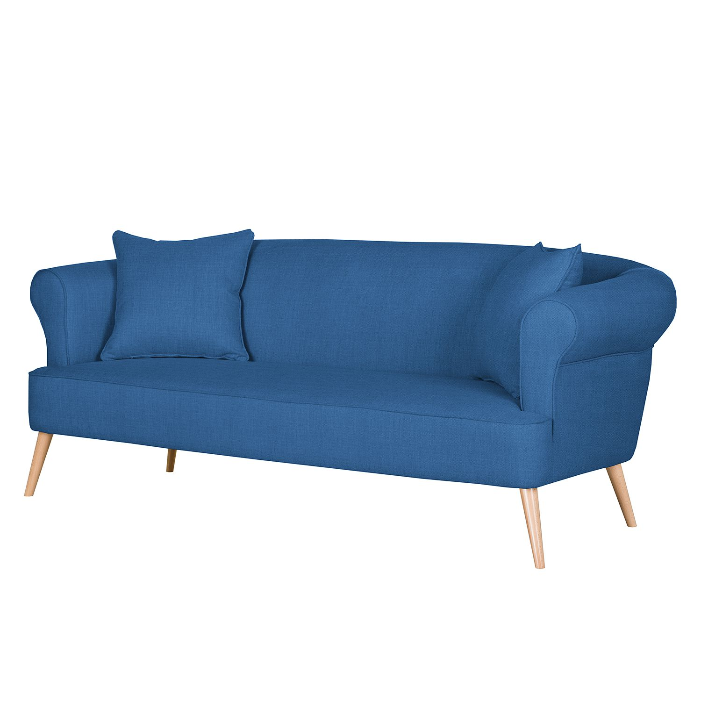 Canapé Lilou (3 places) - Tissu - Bleu des mers du sud, Maison Belfort