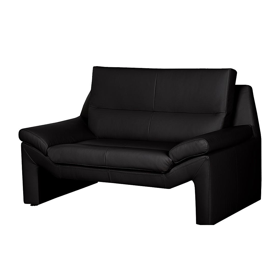 scrapeo charmante m ridienne 2 places en cuir noir. Black Bedroom Furniture Sets. Home Design Ideas