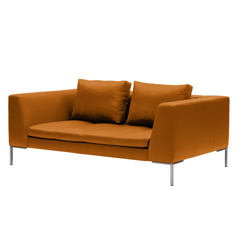 Sofa Madison (2-Sitzer) Echtleder - Echtleder Neka Cognac