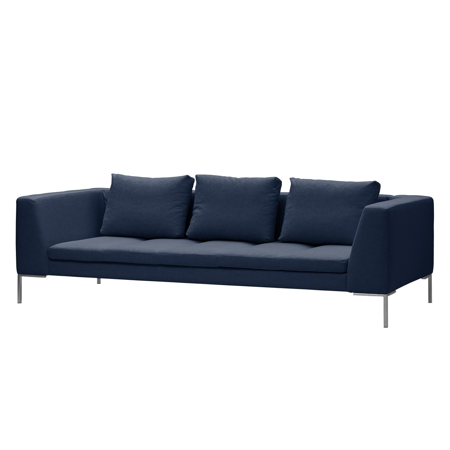 Sofa Madison (3-Sitzer) Webstoff - Stoff Milan Dunkelblau