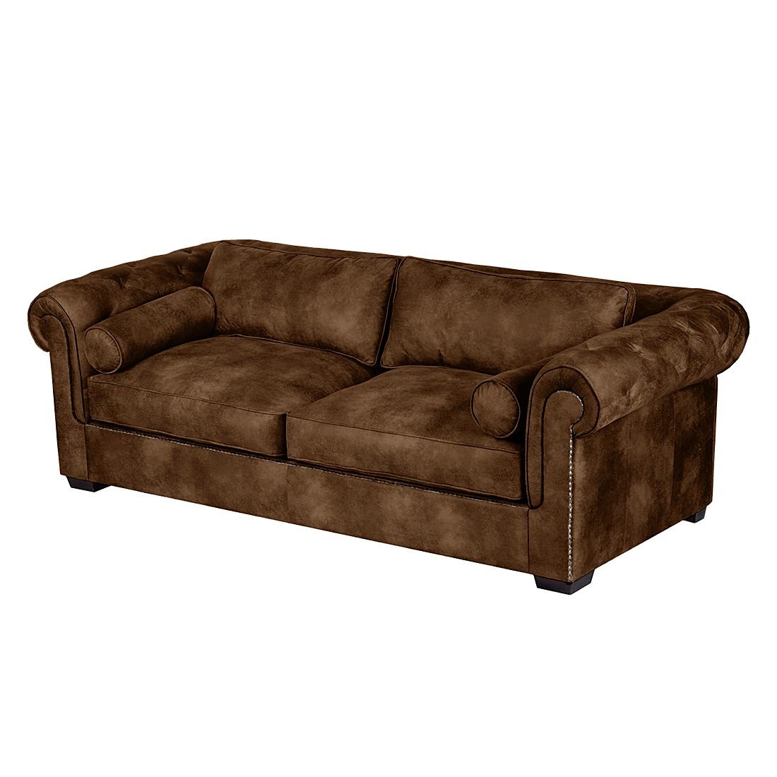 Sofa mallow 3 sitzer antiklederoptik braun furnlab online bestellen - Sofa antiklederoptik ...